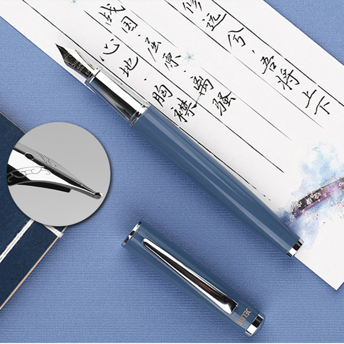 Delike Fountain Pen 0.38mm/0.5mm EF/F Nib Calligraphy Writing Signing Ink Pens Gifts for Students Friends Families