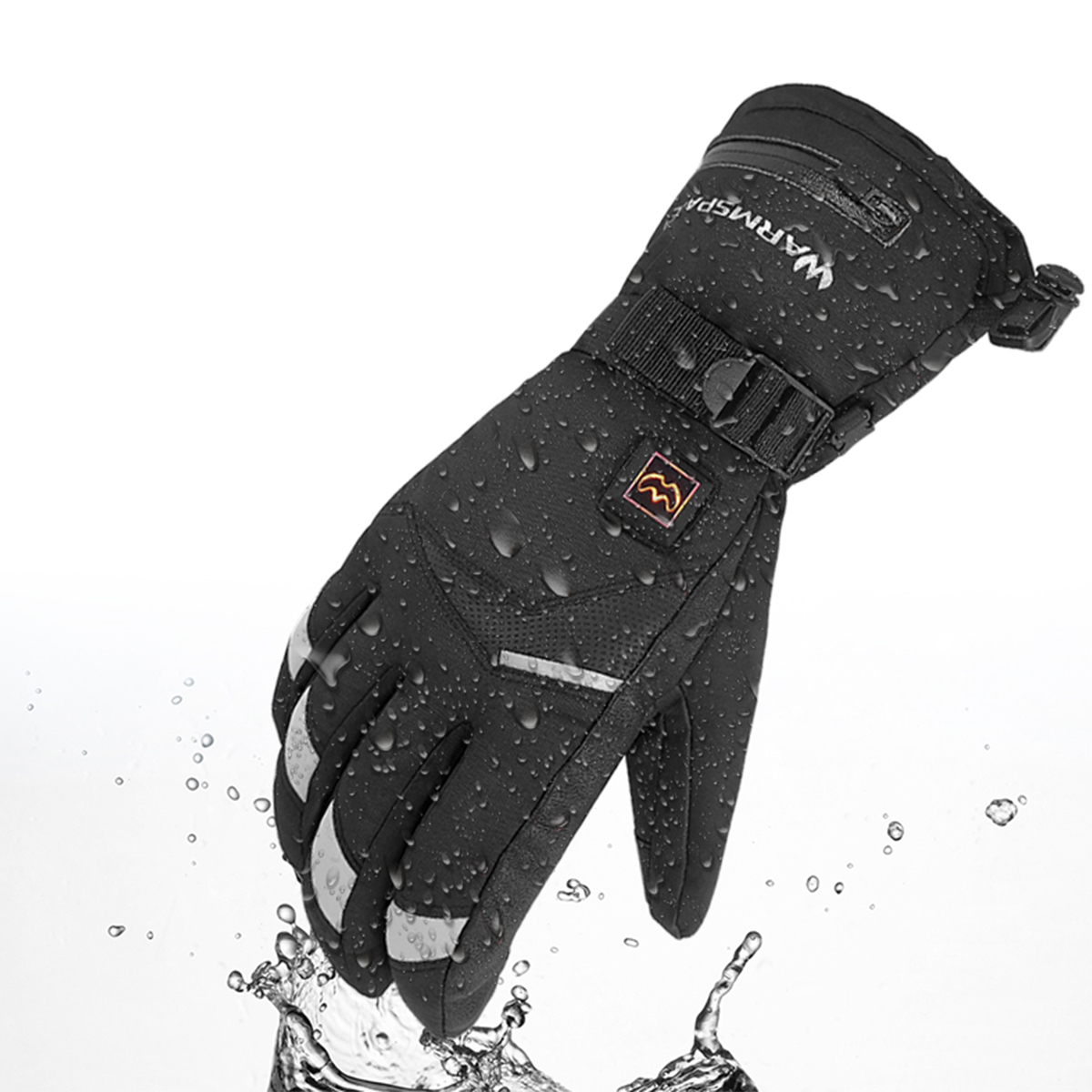 WARMSPACE 5 Gear Temperature Electric Heated Gloves Touch Screen Waterproof For Motorcylce Riding Outdoor Climbing Skiing