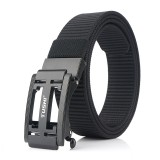TUSHI 125cm x 3.4cm Zinc Alloy Buckle Men Tactical Belt Nylon Casual Belts
