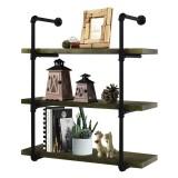 2Pcs DIY Industrial Retro Iron Pipe Shelf Storage Bracket Wall Mount Bookshelf