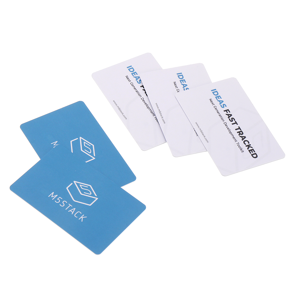 M5Stack 5Pcs 13.56MHz RFID Contactless Card Smart Cart For Transport/ City Metro Entry Card RFID Token Reader