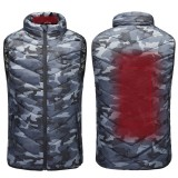 USB Heated Waistcoat Camouflage Outdoor Warm Jacket Washable Winter Electric Thermal Heating Sports Hiking Clothing
