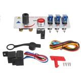 12V Auto LED Toggle Ignition Switch Panel Racing Vehicle Engine Start Push Set