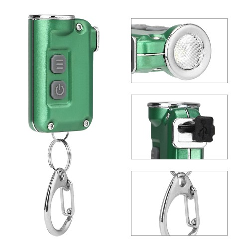 XPG-2 380Lumens 4Modes USB Rechargeable Double Switch Key Chain Flashlight Mini LED Flashlight Outdoor Portable Flashlight