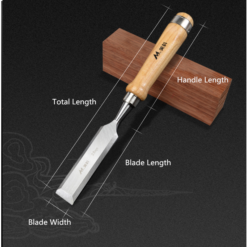 Drillpro CR-V 6-38mm Woodworing Chisel Wood Chisel Wood Handle for Woodworking Carving