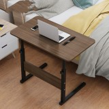 Multifunctional Movable Bedside Laptop Desk Wooden Brushed Oak Computer Table Study Table Computer Stand
