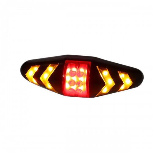 Wireless Remote Control Bicycle Turn Signal Lights Bike Tail Flashing Warning Lamp