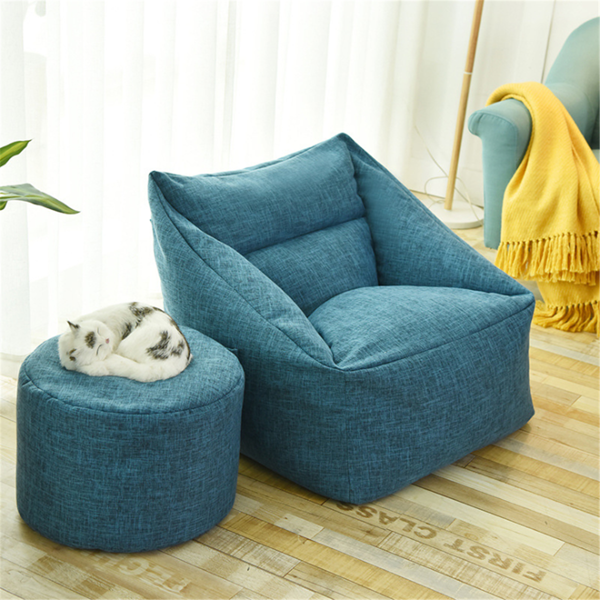 Large Bean Bag Chair Covers Lazy Sofa Indoor Seat Armchair ...