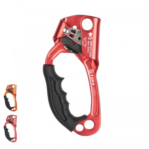 XINDA Aluminum Left Hand Grasp Safety Rock Climbing Ascender Device Rappelling Belay