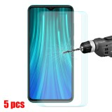 Bakeey 5pcs 9H Anti-explosion Anti-scratch Tempered Glass Screen Protector for Xiaomi Redmi Note 8 Pro