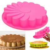 "9"" Silicone Flower Cake Chocolate Bread Mould Bakeware Pan Cake Pan Baking Tool"