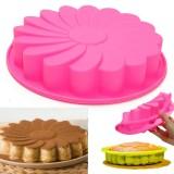 """9"""" Silicone Flower Cake Chocolate Bread Mould Bakeware Pan Cake Pan Baking Tool"""