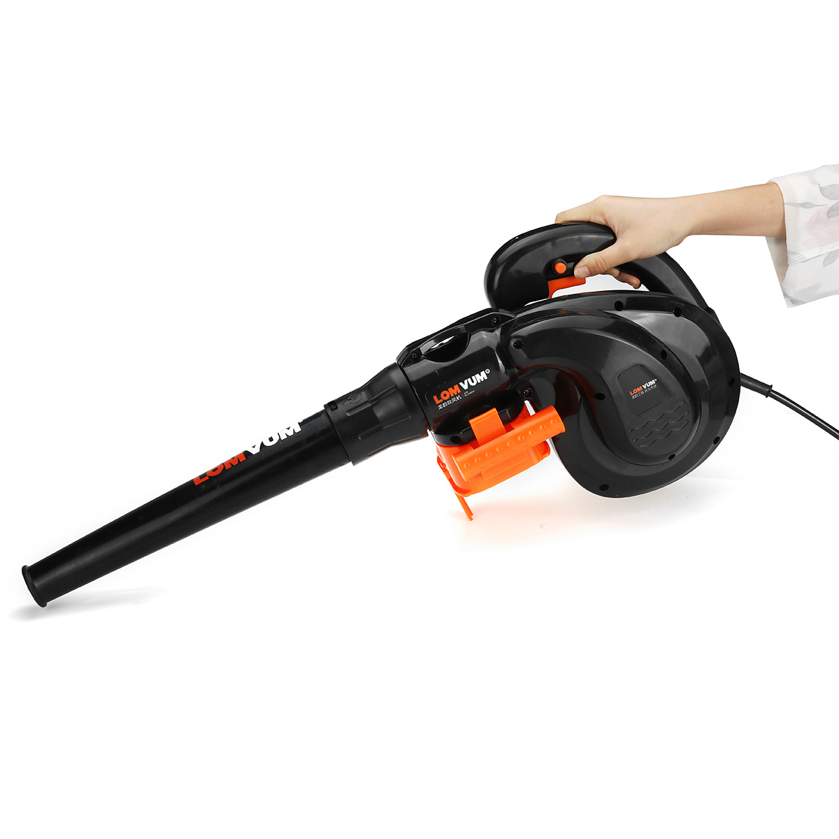 1800W 220V Handheld Air Blower Vacuum 6-Speed Adjustable Car Garden Dust Leaf Vacuum Cleaner