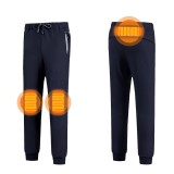 Men Women Electronic Heated Trousers Heating USB Heater Winter Warm Fluff Pants Leisure Sweatpants