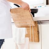 Cutting Board Holder Kitchen Shelf Storage Rack Pot Lid Pan Cover Organizer