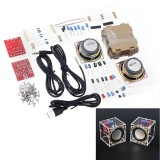 DIY Electronic 3W Speaker Production Kit with Transparent Shell 2.36inch 1 Mini Computer Audio Electronics DIY Kit