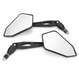 Motorcycle Rearview Mirrors Pair For Yamaha Honda Suzuki Kawasaki BMW KTM