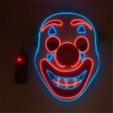 Halloween Dual Color Glowing Clown Mask Full Face Clown Party Costume Evil Creepy Horror Cosplay