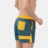 Mens Color Block Designer Board Shorts Side Zip Mesh Lining Jogger Sports Beach Shorts With Pockets