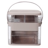 Portable Makeup Cosmetic Organizer Jewelry Rings Display Storage Box Travel Case Acrylic Cosmetic Organizer