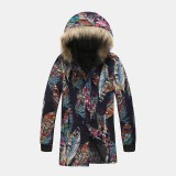 Mens Winter Hooded Warm Fashion Thickened Mid Long Cotton Coats
