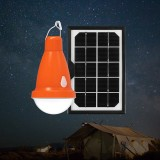 Solar Panel USB Rechargeable Camping Bulb Remote Control Waterproof Outdoor Emergency Light 3 Modes