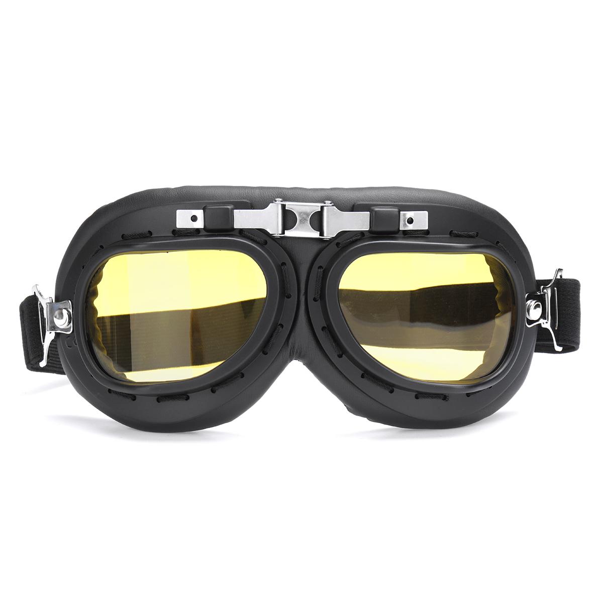 Windproof Retro Helmet Goggles Motorcycle Skiing Scooter ATV Flying Eyewear Glasses