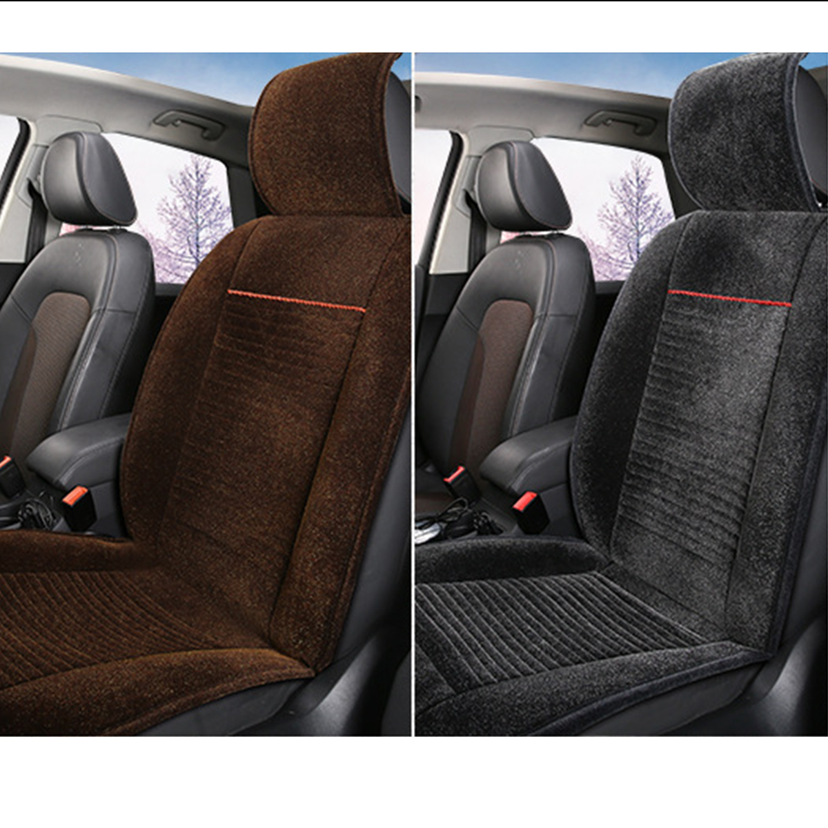 12V 24V Heated Avto Car Seat Cushion Cover Seat Heater Warmer Winter Cushion