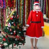 Loskii 3Pcs Christmas Santa Claus Costume Set Novelty Costume Clothes Suit Christmas Costume For Woman