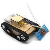 Smart DIY RC Robot Tank STEAM Electric Control Educational Kit Robot Toy