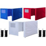 "10 x 10"" Enclosure Zipper Side Walls Kit Panels For EZ Up Canopy Gazebo Tent"