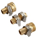 3/4 Male Female Connector Set Garden Hose Repair Mender Kit Hose Connectors Water Hose Pipe Fittings Copper Joint