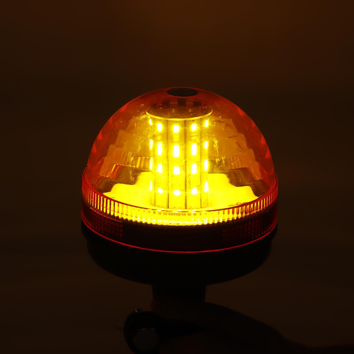 Amber 40 LED 12V-24V Emergency Warning Flash Strobe Rotating Tractor Light Beacon Recovery Warning Signal Light