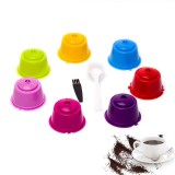 7Pcs/Set Colorful Refillable Coffee Capsule Cup Reusable Coffee Pods for Nescafe Dolce Gusto Brewer
