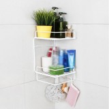 Bathroom Shelf Perforation-Free Wall-Mounted Kitchen Shelf Toilet Shelf Wall Corner Shelf Rack