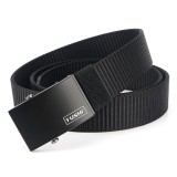 TUSHI 125cm Nylon Waist Belts Zinc Alloy Quick Release Inserting Buckle Tactical Belt