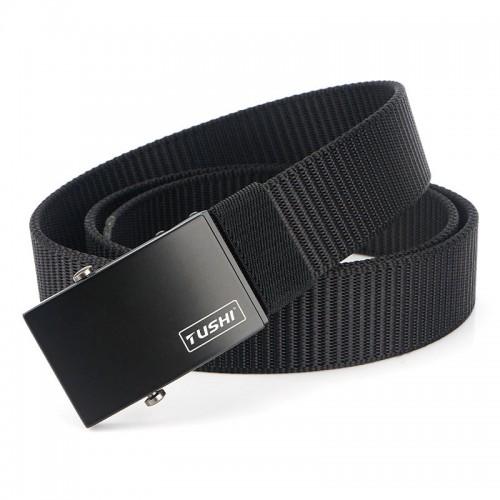 TUSHI 125cm Nylon Waist Belts Zinc Alloy Quick Release Inserting Buckle Tactical Belt