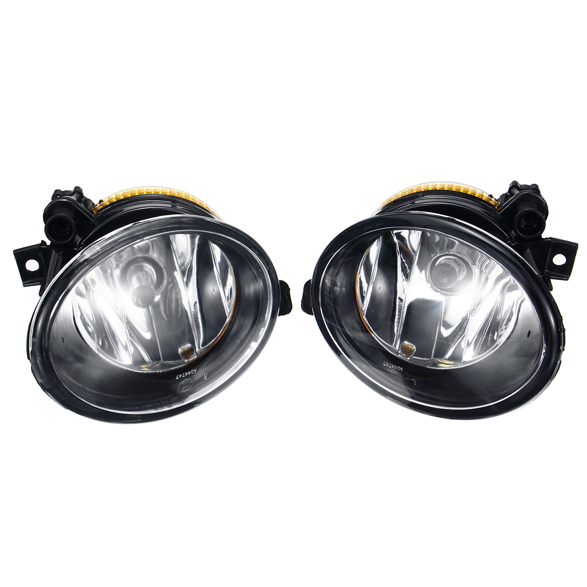 Pair Car Front Bumper Fog Lights Lamp with Grilles Cover For VW Transporter Caravelle 2009-2015
