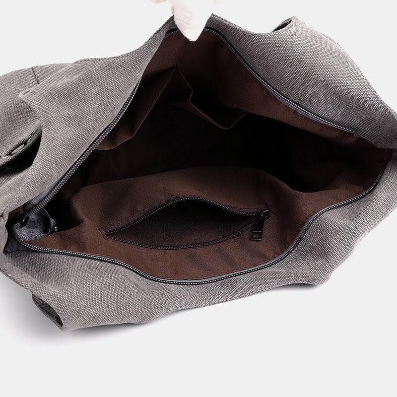 Women Large Capacity Canvas Handbag Shoulder Bag Crossbody Bag For Shopping Outdoor