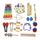 SY-60 19-piece Orff Musical Instruments Set Early Education Enlightenment Instrument for Children
