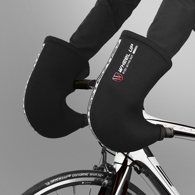 WHEEL UP Windproof Rainproof Bike Gloves Outdoor Riding Cycling Bicycle Gloves Winter Warm Gloves-Mountain/Road