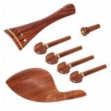 1 Set VL-20 Redwood Tuner Pegs Polished Ebony Fiddle Pegs Violin Parts for 4/4 Violin
