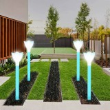 10pcs LED Solar Power Garden Path Yard Light Lamps Lawn Road Patio Outdoor