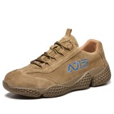 Men Casual Breathable Steel Toe Puncture Proof Safety Work Sneakers