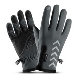 Mens Winter Thermal Fleece Lined Gloves Touchscreen Waterproof Windproof Reflective Skiing Cycling Warm Mitten