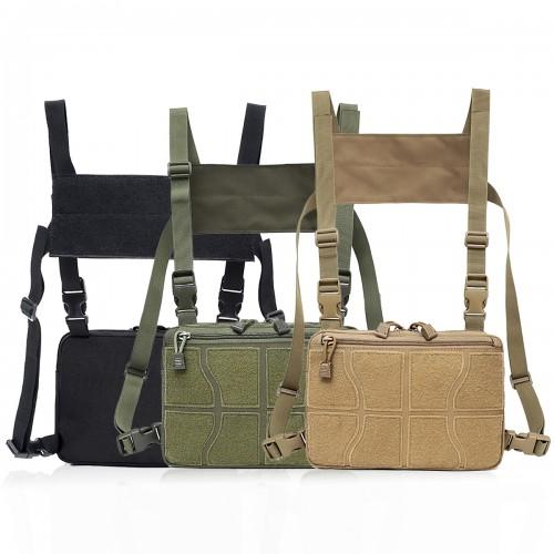 Chest Bag Tactical Vest Chest Rig Bag Hip Hop Pouch Waistcoat Waterproof Unisex