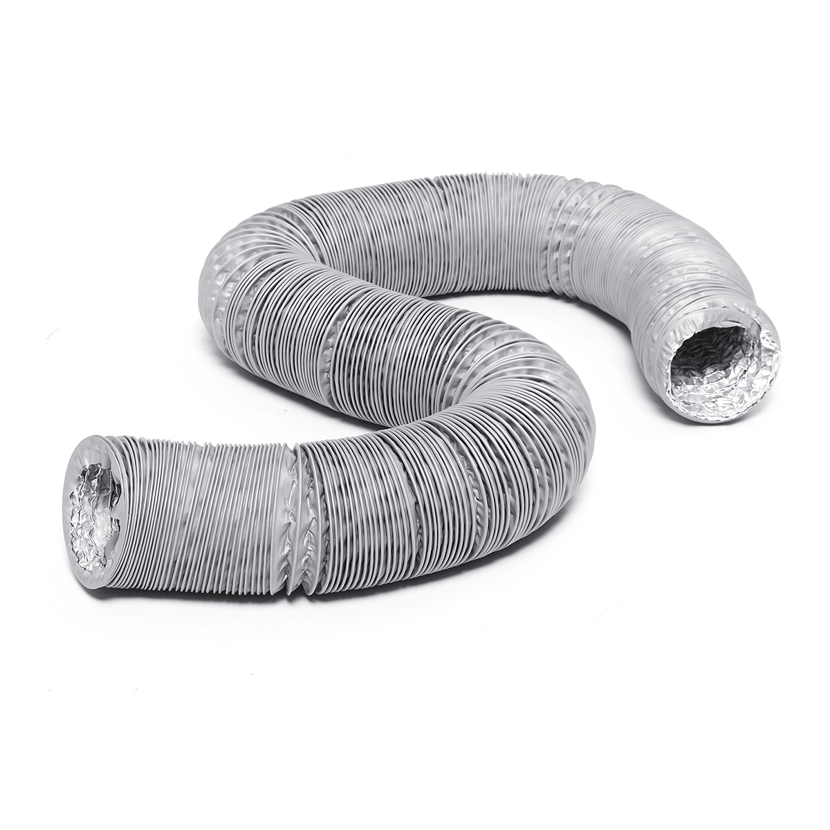 1.5/3/6M 100MM Flexible Air Conditioner Spare Parts Exhaust Pipe Vent Hose Outlet