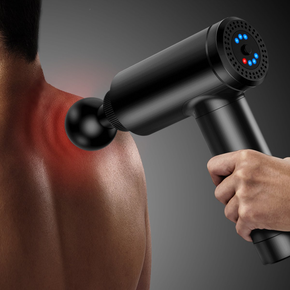 2600mah Deep Muscle Relief Electric Massager Massage Percussion Massager Muscle Vibrating Relaxing 4 Speed