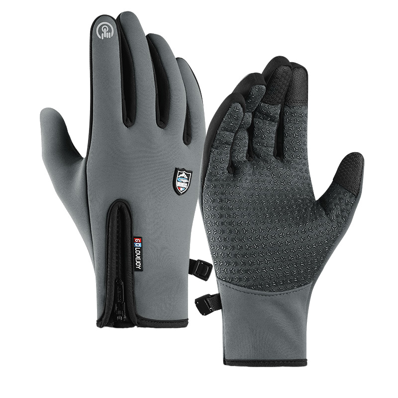Motorcycle Riding Gloves Windproof Waterproof Touch Screen Full Finger Sports Winter Warm Fleece Skiing Gloves