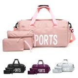 3PCS Waterproof Shoulder Bag Wet-dry Seperation Shoes Bag Fitness Yoga Handbag Luggage Bag